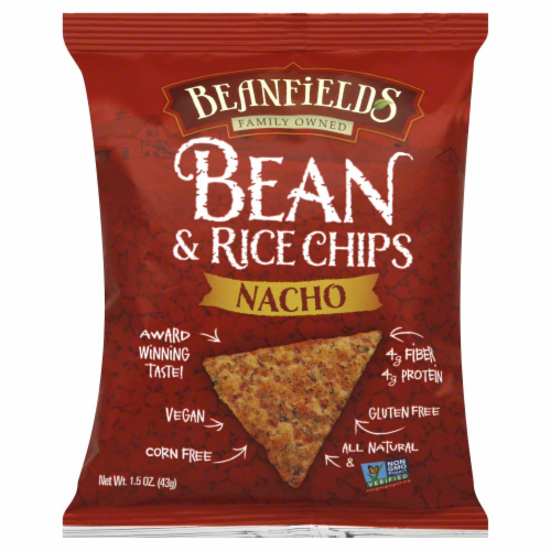 Beanfields Nacho Bean & Rice Chips Perspective: front