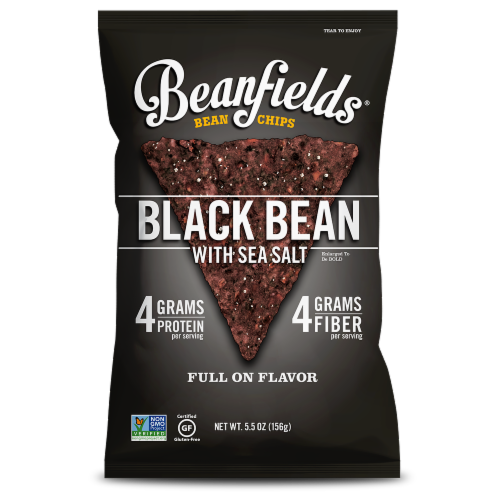 Beanfields Black Bean with Sea Salt Bean Chips Perspective: front