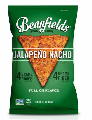 Beanfields Jalapeno Nacho Bean Chips Perspective: front