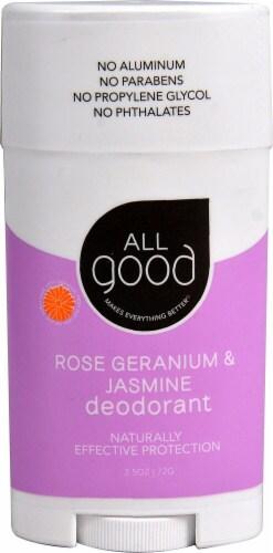 Elemental Herbs  All Good Deodorant Rose Geranium & Jasmine Perspective: front