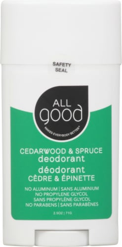 Elemental Herbs  All Good Deodorant Cedarwood & Spruce Perspective: front