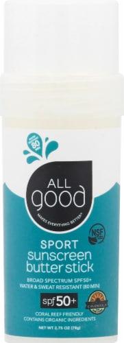 Elemental Herbs  All Good Sport Sunscreen Butter Stick SPF 50+ Perspective: front