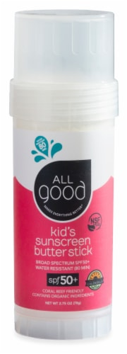 Elemental Herbs  All Good Kid's Sunscreen Butter Stick SPF 50+ Perspective: front