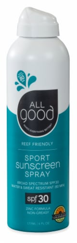 Elemental Herbs  All Good Sport Sunscreen Spray SPF 30 Perspective: front