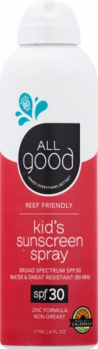 Elemental Herbs  All Good Kid's Sunscreen Spray SPF 30 Perspective: front