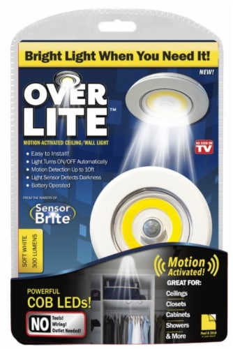 Over LITE™ Motion Activated Ceiling/Wall Light Perspective: front