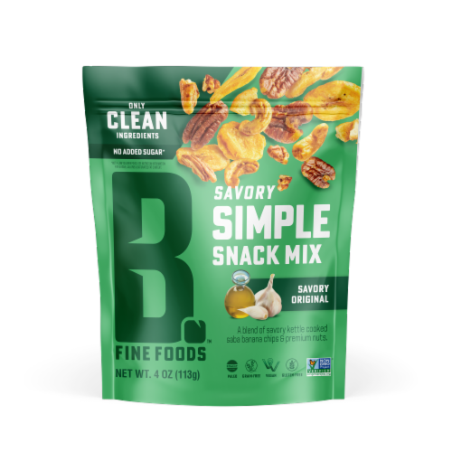 Bubba's Fine Foods Savory Original Grain Free Snack Mix Perspective: front