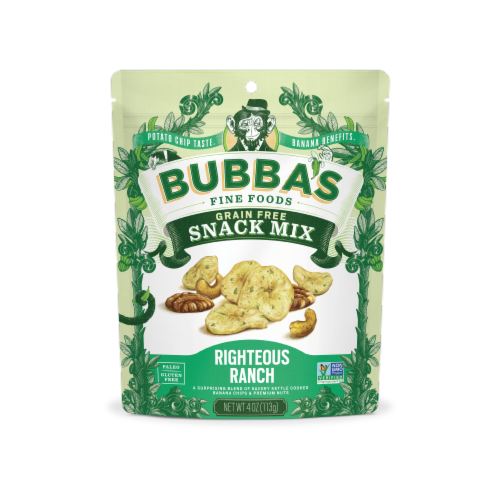 Bubba's Fine Foods Righteous Ranch Grain Free Snack Mix Perspective: front