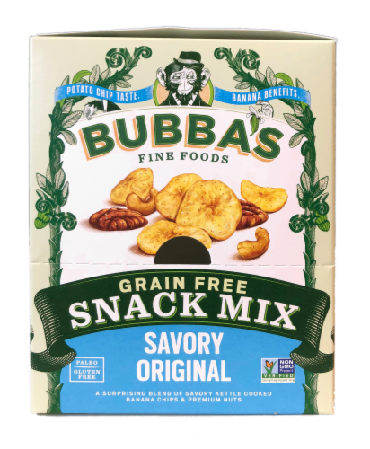 Bubba's Grain Free Savory Original Snack Mix Perspective: front