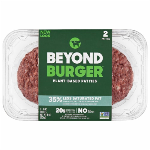 Beyond Meat Beyond Burger Plant-Based Burger Patties Perspective: front