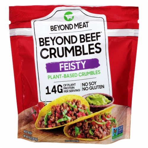Beyond Meat Feisty Plant-Based Protein Crumbles Perspective: front