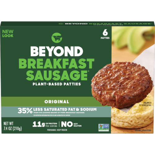 Beyond Meat Classic Breakfast Sausage Patties 6 Count Perspective: front