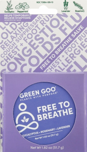 Green Goo Free To Breathe Salve Perspective: front