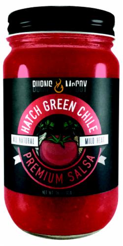 Burns & McCoy Hatch Green Chile Mild Heat Salsa Perspective: front