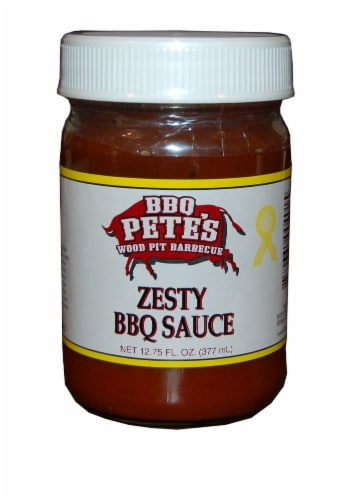 BBQ Pete's Zesty Pulled Pork Sauce Perspective: front