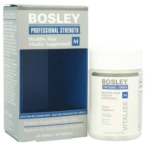 """""""""""Bosley Healthy Hair Vitality Supplement Hair Supplement 60 Count"""""""" Perspective: front"""