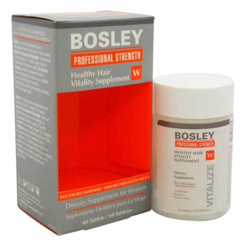 Bosley Healthy Hair Vitality Supplement Hair Supplement 1 Pc Perspective: front