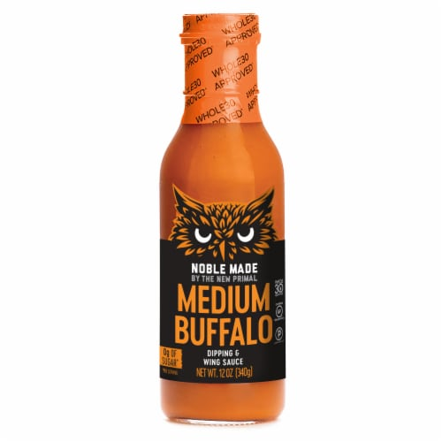 The New Primal Medium Noble Made Buffalo Dipping & Wing Sauce Perspective: front