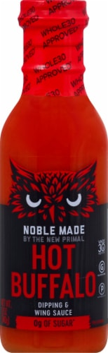 The New Primal Noble Made Hot Buffalo Dipping & Wing Sauce Perspective: front