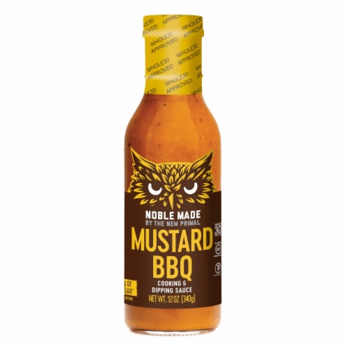 The New Primal Noble Made Mustard BBQ Cooking & Dipping Sauce Perspective: front