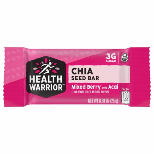 Health Warrior Acai Berry Chia Bar Perspective: front