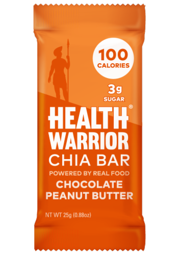 Health Warrior Chocolate Peanut Butter Chia Bar Perspective: front