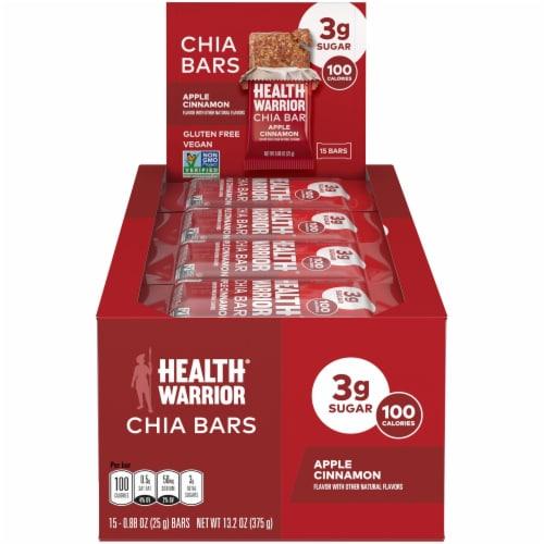 Health Warrior Apple Cinnamon Chia Bars Perspective: front
