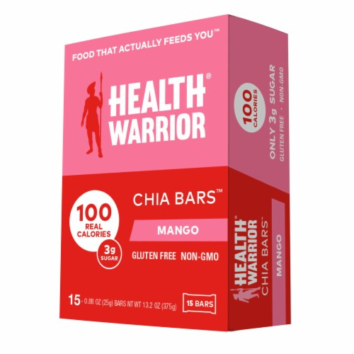 Health Warrior Mango Chia Bars Perspective: front