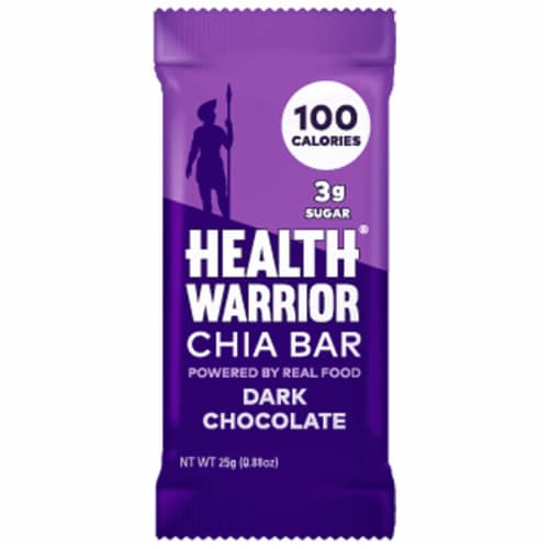 Health Warrior Dark Chocolate Chia Bar Perspective: front