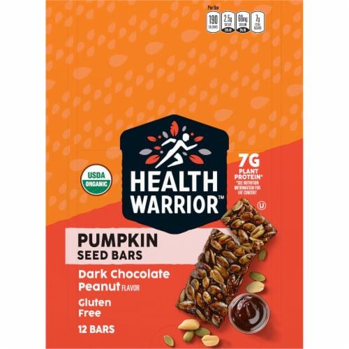 Health Warrior Organic Dark Chocolate Peanut Pumpkin Seed Bars Perspective: front