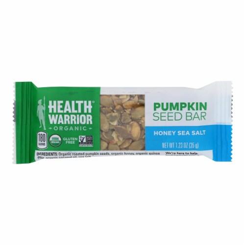 Health Warrior Organic Pumpkin Seeds Honey & Sea Salt Protein Bars Perspective: front