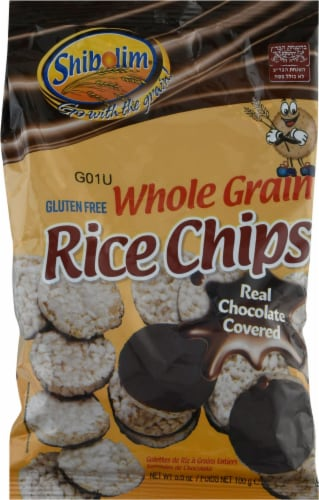 Shibolim Chocolate Whole Grain Rice Cakes Perspective: front