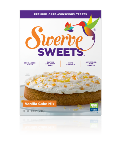 Swerve Sweets Vanilla Cake Mix Perspective: front