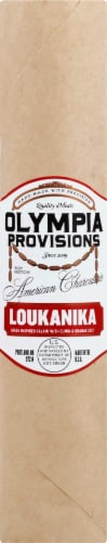 Olympic Provisions Loukanika Unsliced Salami Perspective: front