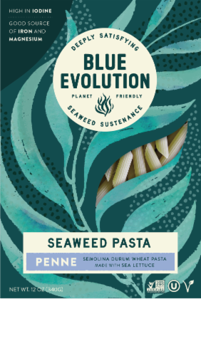 Blue Evolution Penne Seaweed Pasta Perspective: front