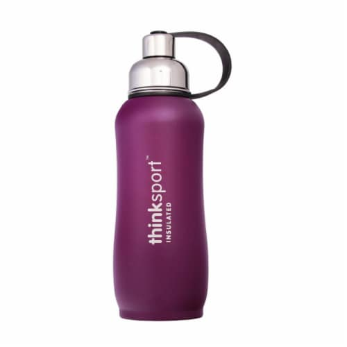 Thinksport Insulated Sport Bottles - Purple Perspective: front