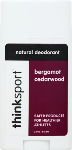 Thinksport Bergamot Cedarwood Natural Deodorant Perspective: front
