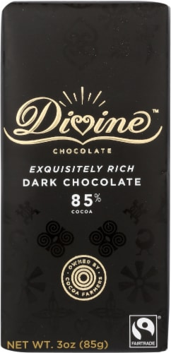 Divine 85% Cocoa Dark Chocolate Perspective: front