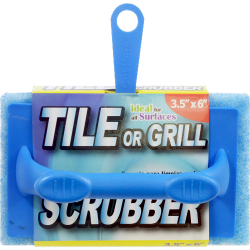 Tile or Grill Scrubber - Blue Perspective: front