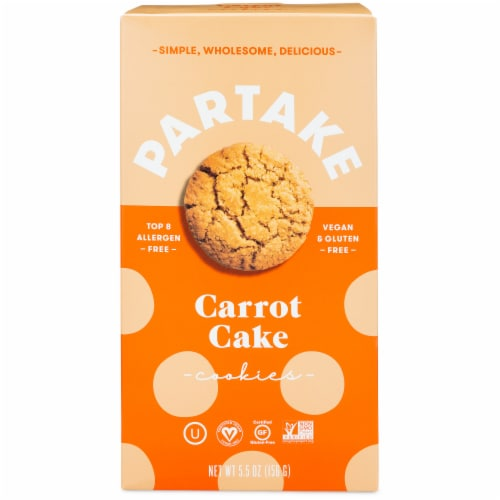 Partake Foods Carrot Cake Cookies Perspective: front