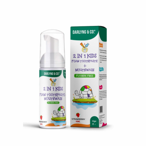 2-in-1 Kids Foam Toothpaste + Mouthwash (Watermelon) Perspective: front