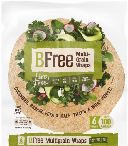 BFree Wheat & Gluten Free Multigrain Wraps Perspective: front
