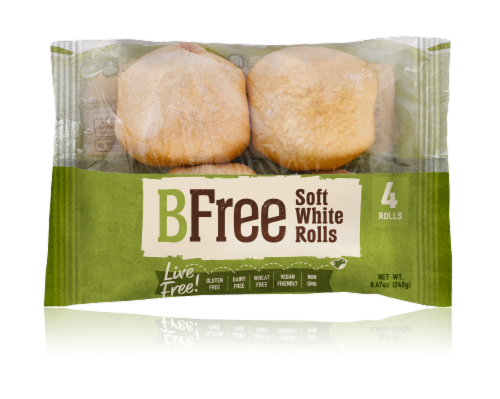 BFree Wheat & Gluten Free Soft White Rolls Perspective: front