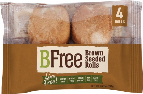 BFree Wheat & Gluten Free Brown Seeded Rolls Perspective: front