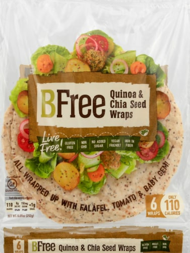 BFree Quinoa & Chia Seed Wrap Perspective: front