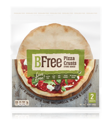 BFree Stone Baked Pizza Bases Perspective: front