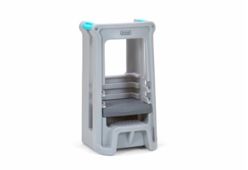 Simplay3 Toddler Tower Adjustable Stool - Gray Perspective: front