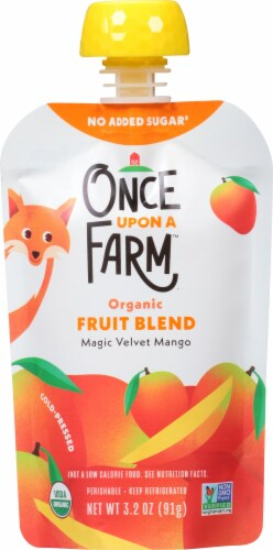 Once Upon A Farm Magic Velvet Mango Organic Stage 1 Baby Food Perspective: front
