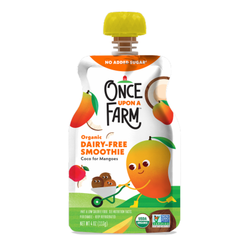 Once Upon a Farm Organic Coco for Mangoes Kids Dairy-Free Smoothie Perspective: front