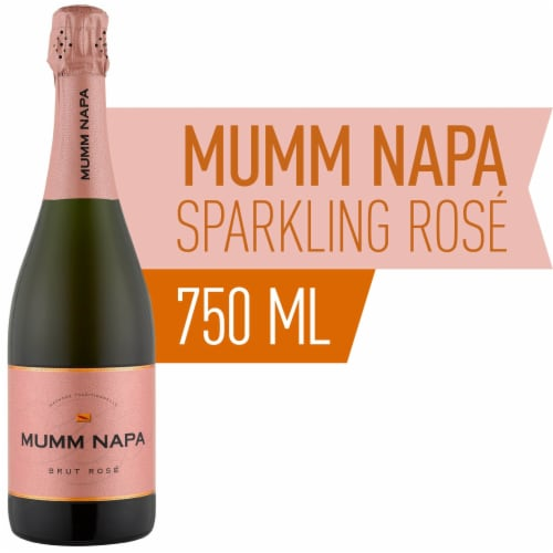 Mumm Napa Brut Rose Sparkling Wine Perspective: front